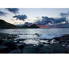 Fire in the Sky - Giants Causeway Northern Ireland Photographic Print