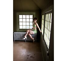 Pin Up in abandonments - Model Hashly Rose Photographic Print