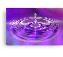 Purple Water Drop Canvas Print