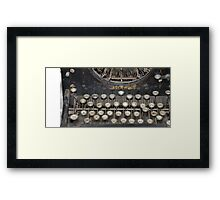 The Old School Computer Framed Print