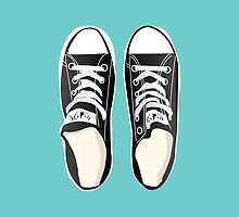All You Need is Chucks - Turquoise by bymelindacoope