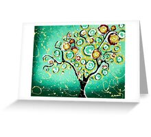 Turquoise Tree of Life Greeting Card