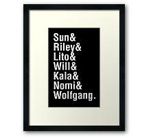 Helvetica8 Framed Print