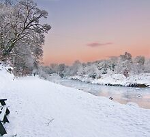 A Christmas Eve Sunset - River Lagan at Shaw's Bridge Belfast by PMcGivern