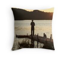 Contemplating the Sunset - Muskoka Throw Pillow