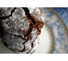 Chocolate crinkle cookies Photographic Print