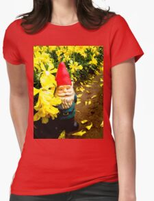 Yellow Falls Gnome Womens Fitted T-Shirt