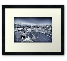 The bench on top with a view Framed Print