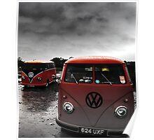 VW Show N Shine Split Screens Poster