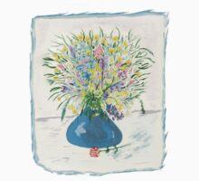 Blue Drop Vase Tee by Anne Gitto