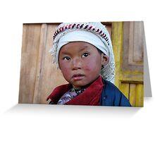 himalayan girl. nepal Greeting Card