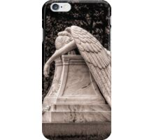 Weeping Angel - sepia iPhone Case/Skin