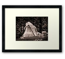Weeping Angel - sepia Framed Print