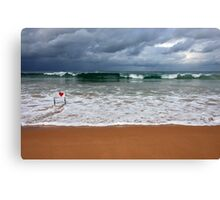 Where the sand meets the sea Canvas Print