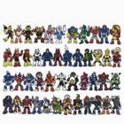 Megaman Bosses by stixcreatur