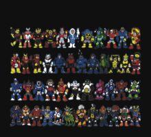 Megaman Bosses Kids Tee