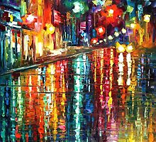 Mirror Of The Rain  - original oil painting on canvas by Leonid Afremov by Leonid  Afremov