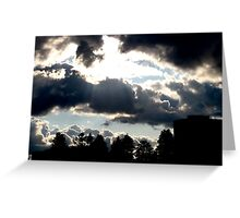 Bellowing and billowing clouds Greeting Card