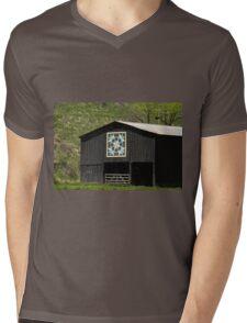 Kentucky Barn Quilt - Snow Crystals Mens V-Neck T-Shirt