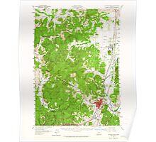 USGS Topo Map Oregon Cottage Grove 282375 1957 62500 Poster