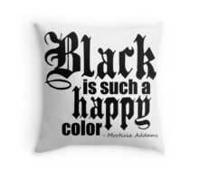 All Black Everything - Black Font Throw Pillow