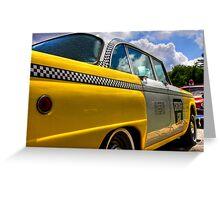 Checker Cab Greeting Card