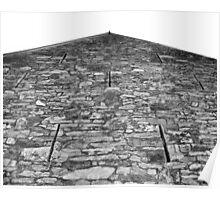 Stone Barn in Berks County Poster