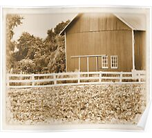 Barn With A Paddock Poster