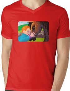 Philip and the Horse Mens V-Neck T-Shirt