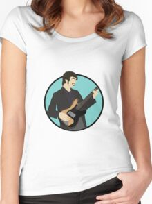 The Band: Rick Danko Women's Fitted Scoop T-Shirt