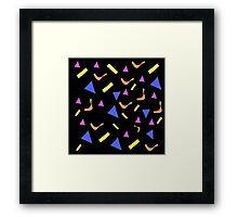 Retro Shapes Pattern Framed Print