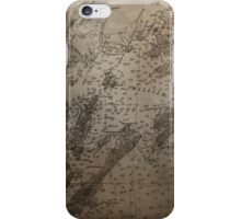 1912 Map of Prince William Sound, Alaska iPhone Case/Skin
