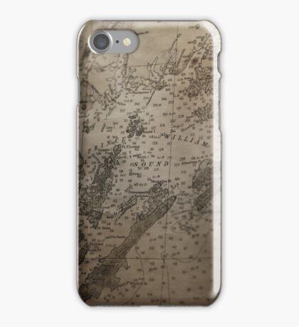 1912 Map of Prince William Sound, Alaska iPhone Case/Skin