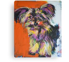 Yorkie (commissioned) Canvas Print