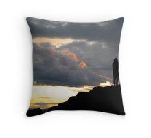 Sunset Atop the Volcano Throw Pillow