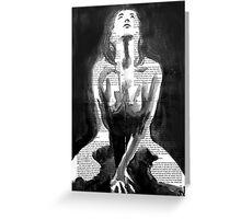 dramatic nude Greeting Card