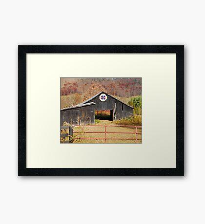 Kentucky Barn Quilt - Octagon Variation  Framed Print