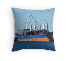 Portland Harbour Loading Throw Pillow