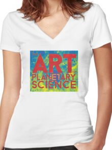 The Art of Planetary Science Women's Fitted V-Neck T-Shirt