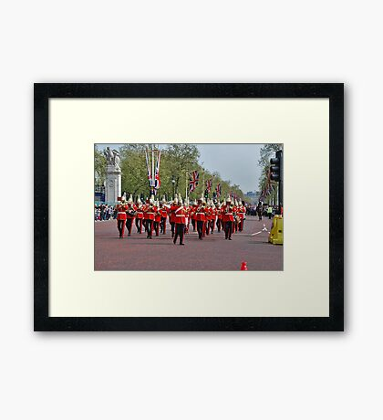 Marching Band Framed Print
