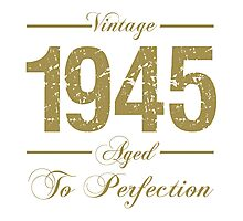 Vintage 1945 Birthday Photographic Print