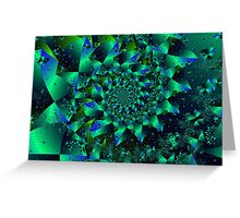Iridescent Spiral Greeting Card