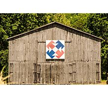 Kentucky Barn Quilt - Capital T Photographic Print