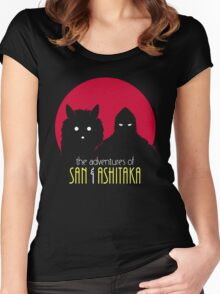 The Adventures of San & Ashitaka Women's Fitted Scoop T-Shirt