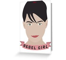 Rebel Girl Greeting Card
