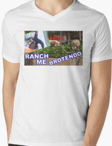RANCH ME BROTENDO Mens V-Neck T-Shirt