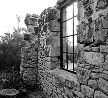 Stone Wall to Nowhere (Cape St.Geo. Lighthouse ruins)NSW by Lunaria