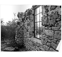 Stone Wall to Nowhere (Cape St.Geo. Lighthouse ruins)NSW Poster