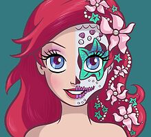Sugar Skull Series: Underwater Princess by Ellador