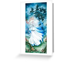 Crow Maiden Greeting Card